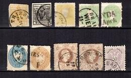 Autriche Dix Bonnes Valeurs Oblitérées 1850/1883. A Saisir! - Used Stamps