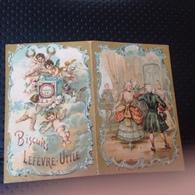 Calendrier 1898 Biscuits LEFÈVRE UTILE - Calendars