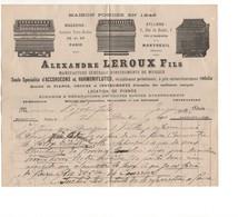 P30: Alexandre LEROUX Instrument Musique Accordéon Harmoniflute Piano Orgue 1890 - 1800 – 1899
