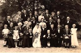 Grande Photo Originale Mariage & Grande Famille Des Mariés Au Parc De Jeßnitz Vers 1940/50 Photo Larm - Allemagne - Anonyme Personen
