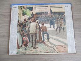 Calendrier Almanach Des Poste Telegraphe PTT  1889 Oise - Calendars
