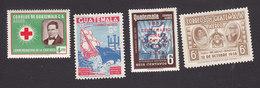 Guatemala, Scott #C222, C231, C233-C234, Mint Hinged, Red Cross, Galleon, Coffee Exports, Vileda, Issued 1958-59 - Guatemala