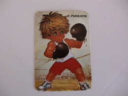 Michel Thomas Illustration O Pugilista Portugal  Portuguese Pocket Calendar 1988 - Calendars