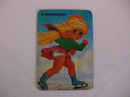Michel Thomas Illustration A Patinadora Portugal  Portuguese Pocket Calendar 1988 - Calendars