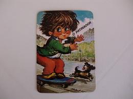 Michel Thomas Illustration O Patinador Portugal  Portuguese Pocket Calendar 1988 - Calendars