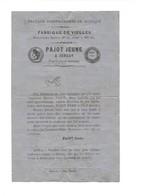 PAJOT Jeune Fabrique Facteur Fabricant D'instruments De Musique Vielles Et Autres Document De Mise Au Point - 1800 – 1899