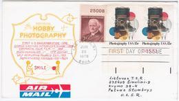 USA United States 1978 FDC Photography Camera, Canceled In Las Vegas, Siauliai USSR - 1971-1980