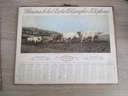 Calendrier Almanach Des Poste Telegraphe PTT  1913 Oise LABOURAGE NIVERNAIS - Calendars