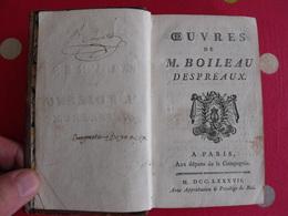 Oeuvres De Boileau Despréaux. Didot 1787. Satires épitres Art Poétique Le Lutrin épigrammes - Books, Magazines, Comics