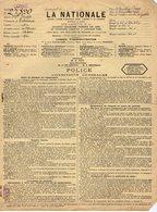 VP12.325 COSNE 1928 - Police D'Assurance La Nationale - Mr Le Capitaine P. FUCHS à DAKAR - JOIGNY - ST AMAND EN PUISAYE - Bank & Insurance