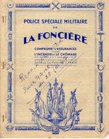 VP12.326 - LORIENT 1939 - Police D'Assurance La Foncière - Mr Le Capitaine P. FUCHS à DAKAR - JOIGNY - GUIDEL - Bank & Insurance