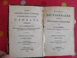 Dictionnaire Russe-français Et Français-russe. Schmidt. Leipzig Chez Otto Holtze 1882 - Books, Magazines, Comics