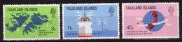 Falkland Islands Queen Elizabeth 1977 Telecommunications Set Of Stamps - Falkland Islands