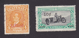 Guatemala, Scott #E1-E2, Used, Granados Overprinted, Motorcycle Messenger, Issued 1940-48 - Guatemala