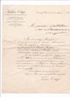 Courrier Commercial Frédéric Ortigé, Charbons Anglais, Cokes, Tonnay-Charente (Charente-Maritime), 1888 - 1800 – 1899