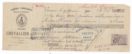 Mandat à Ordre Timbré Fabrique D'Horlogerie Chevallier & Cie, Varennes-sur-Allier (Allier), 1900 - 1900 – 1949