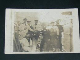TOULON  1914   /  MILITARIA EQUIPAGE CANON  SUR SOUS MARIN ?..........  EDITEUR Carte Photo - Toulon