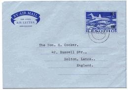 Lesotho Aérogramme Provisoire Maseru Aerogram Air Letter Entier Entero Ganzsache Lettre Carta Belege Airmail Cover - Lesotho (1966-...)