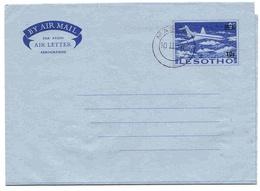 Lesotho Aérogramme Provisoire Maseru CTO Aerogram Air Letter Entier Entero Ganzsache Lettre Carta Belege Airmail Cover - Lesotho (1966-...)