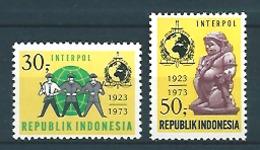 Indonesia (1973) Yv. 662/63  /  Interpol - Police - Policia - Organizations