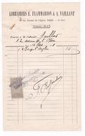 Rare Facture Timbrée Librairies E. Flammarion & A. Vaillant, 36 Bis Avenue De L'Opéra, Paris, 1901 - Printing & Stationeries