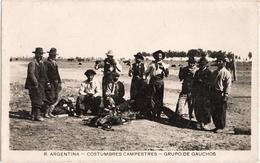 R. Argentina - Costumbres Campestres - Grupo De Gauchos - Argentine