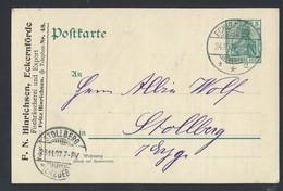 7de.Postkarte. Die Post Von 1907 Ging Nach Eckernförde Stolberg. Bestellung Von Fischprodukten. Ostseesprotten - Lettres & Documents