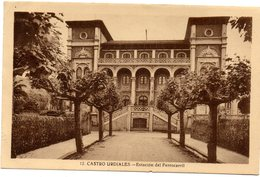 Tarjeta Postal De Castro Urdiales. Estacion De Ferrocarril Circulada - Vizcaya (Bilbao)