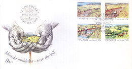 TRANSKEI / SOUTH AFRICA : FIRST DAY COVER WITH INFORMATION BROCHURE INSIDE : KHUSELA UMBHABA SAVE THE SOIL - 07-02-1985 - Transkei