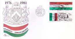TRANSKEI / SOUTH AFRICA : FIRST DAY COVER WITH INFORMATION BROCHURE INSIDE : 15 YEARS OF INDEPENDENCE - 26-10-1981 - Transkei
