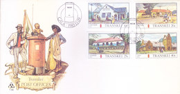 TRANSKEI / SOUTH AFRICA : FIRST DAY COVER WITH INFORMATION BROCHURE INSIDE : TRANSKEI POST OFFICES - 09-11-1983 - Transkei