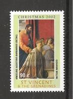 ST. VINCENT & GRENADINES - 2002 G. BELLINI S. Marco Presenta Il Doge Agostino Barbarigo Alla Madonna (part.) Nuovo** MNH - Religione