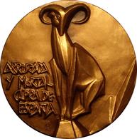 ESPAÑA. MEDALLA DE LA F.N.M.T. DEDICADA A LA CAPRA HISPÁNICA. 1.985. ESPAGNE. SPAIN MEDAL MEDAL - Profesionales/De Sociedad