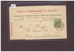 """BELGIQUE - BANDE DE JOURNAL POUR LA SUISSE  """" WARNING: NO PAYPAL!!"""" - 1893-1907 Coat Of Arms"""