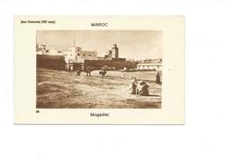 Maroc MOGADOR Chromo TB 80 X 50 Mm Dos Blanc Colonies Françaises - Cromo