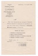 Convocation Interne AG Union Des Propriétaires Vignobles (cognac), Fournier & Cie, Barbezieux (Charente),1929 - Agriculture