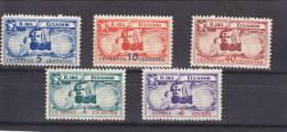 Ecuador Nº 327 Al 331 - Ecuador