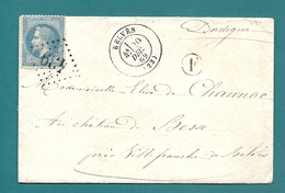 Dordogne - Le BUGUE Pour SARLAT. GC 669 + CàD Type 17 - 1849-1876: Classic Period