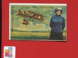 Felix Potin Chromo Aviation Aviateur Aviatrice Madame De Laroche Camp De Châlons - Chocolat