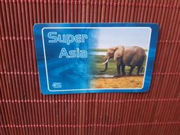 Prepaidcard  Elephant Super Asia   Belgium  Used Rare - Belgium