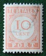 Port Postage Due 10 Ct NVPH P28 1913-1940 Gestempeld / Used NEDERLAND INDIE / DUTCH INDIES - India Holandeses