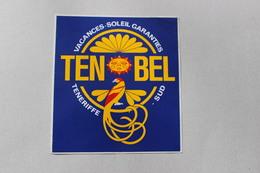 TENOBEL VACANCES SOLEIL GARANTIES TENERIFFE SUD 1 AUTOCOLLANT - Autocollants