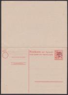 SBZ Carte Postale Avec Réponce Payée, 30/30 SBZ-Ganzsache Ungebraucht Arbeiter Mit SBZ Aufdruck - Zona Soviética