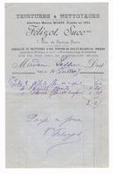 Facture 1897 Teinturerie, Nettoyage à Sec Félizot (anc. Maison Morin), 7 Rue De Suresnes, Paris - 1800 – 1899