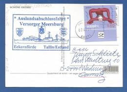 """Schiffspost , """"Auslandsabschlussfahrt""""  Versorger Meersburg - Eckernförde / Tallin-Estland - Postkarte - Post"""