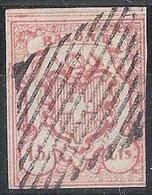 RAYON III 1852: Zumstein 19 Type 1 Michel 11 - 15 Cts. Mit Eidg. Raute Grille Noir CONSTAT BEFUND 2018 (Zu CHF 1300.00) - 1843-1852 Timbres Cantonaux Et  Fédéraux