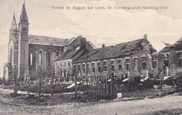 CPA 59, Kirche St August Bei Loos Im Vordergrunde Heidengräber. Carte Allemand, Occupation 1914-1918 (pk47541) - Loos Les Lille