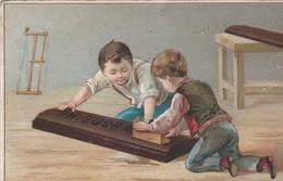 Chromo  Chocolat Suchard Neuchatel Suisse. . Enfant Rabotant Plaque De Chocolat - Suchard