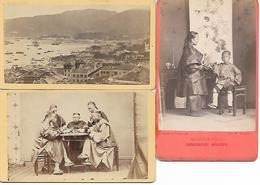 1895/1905 - HONGKONG, 3 Karton Foto 7X10,5cm. - China (Hong Kong)