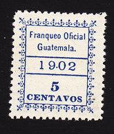 Guatemala, Scott #O3, Mint Hinged, Official, Issued 1902 - Guatemala